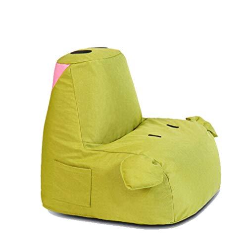 WJS Schwein-Form-kleine Faule Couch mehrfarbiges Starkes Kissen-Schlafzimmer-Wohnzimmer-Balkon-Tatami-Gewebe-einzelner Stuhl 55 × 65cm (Color : Dark Green, Size : B) (Wohnzimmer-gewebe-stühle)