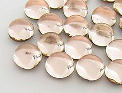 Cabochons / Glasnuggets / Schmucksteine / Rund,  4.0mm, Light Peach, 100 Stück