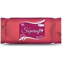 Supersoft Ultra Secure XXL(320 mm) with Leak Lock Technology & Wings Sanitary Napkins(one Pack of 7 pieces)-3 Packs