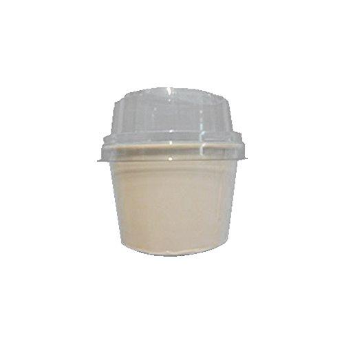 PZ 180 Coupelle blanche CC 160 moyenne + couvercle pour glace à emporter en Papier White Cups Paper