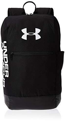 Under Armour Patterson Backpack Mochila, Unisex, Negro Black/Black/White 001, Talla única