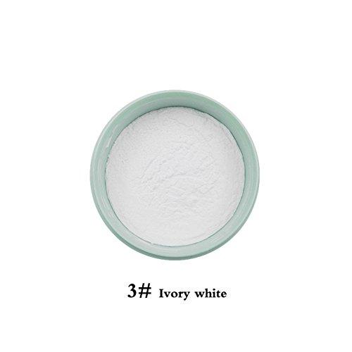 BOBORA Mint lose Make-up Pulver Öl-Kontrolle weiß Haut Tone kompakt Pulver (Weiße Gesichts Up Pulver Make)