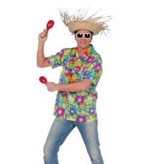 NEU Herren-Kostüm Hawaii-Hemd, blau Gr. L (Neu Hemd Hawaii Herren)