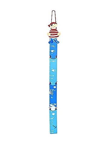 Pirate Bébé - Toise graphique de la hauteur en bois