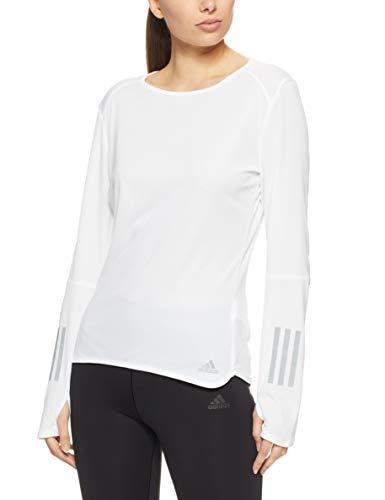 e Langarm T-Shirt, White, S ()