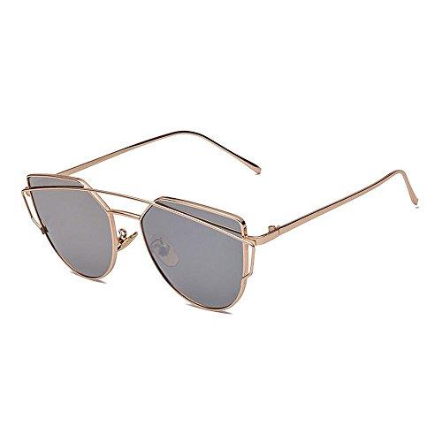 Xiuxiushop Vintage Retro Polarisierte Sonnenbrille Für Männer Outdoor-Sport Ultraleichte Metallic Metallrahmen HD Objektiv Gläser Air Force Unisex UV 400 Schutz (Color : Gray)