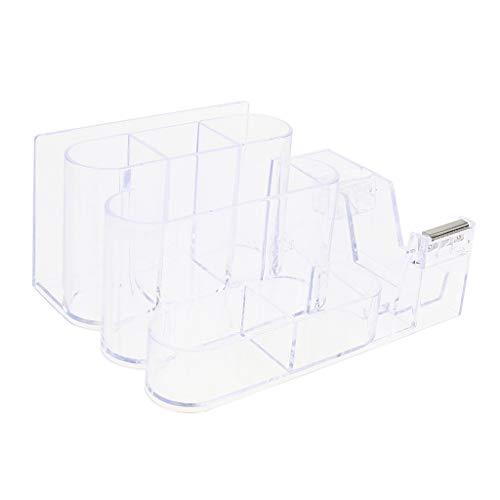 perfk Transparenter Schreibtisch Organizer Acryl Tischplatten Behälter Aufbewahrungsständer Schönes Regal Kasten zum Organisieren - Schublade Organisieren Behälter