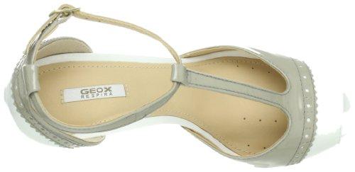 Sandales, color Gris , marca GEOX, modelo Sandales GEOX SWEET Ll 2 NAP/PEARL Gris Blanc - Wei/Beige