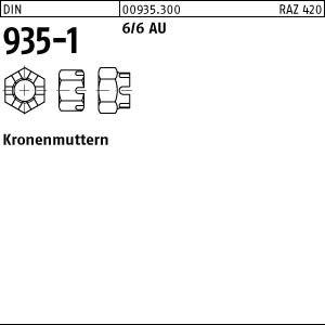 1 Kronenmuttern DIN 935 -1 6 M36 Stahl