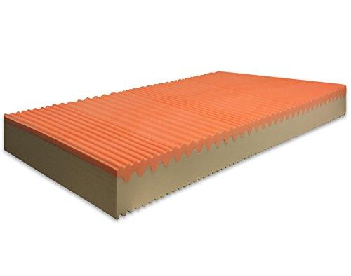 Marcapiuma - materasso singolo memory bio 80x190 alto 20 cm - sunrise plus - h2 medio/rigido dispositivo medico ce - onda 7 zone rivestimento silver sfoderabile antiacaro anallergico made in italy
