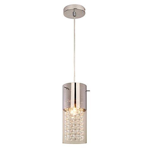 Light Prestige Zara 1lampada a sospensione in vetro, E27, 60W, Trasparente, 10x 10x 145cm