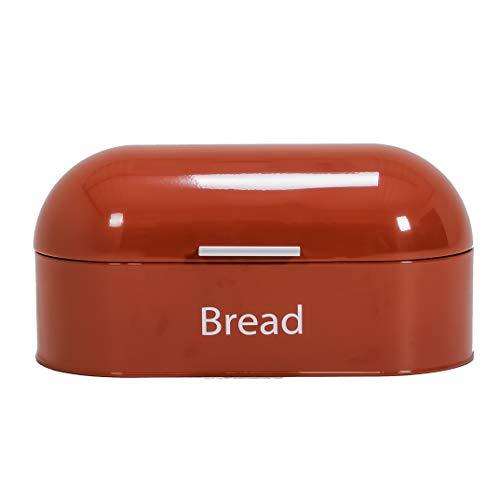 Home Discount® Stahl Retro Brotkasten Küche Lebensmittel Aufbewahrungsbox, Rot