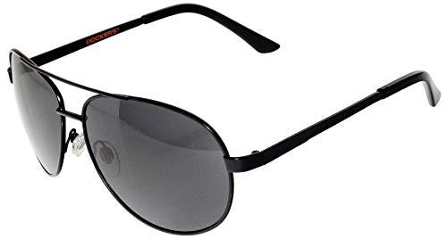 Herren Metall Pilotenbrille One Size Schwarz