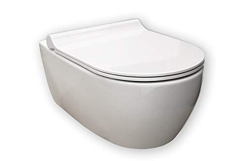 Keramag iCon Wand-WC spülrandlos, weiß, LotusClean Beschichtung, kpl. Set - 4