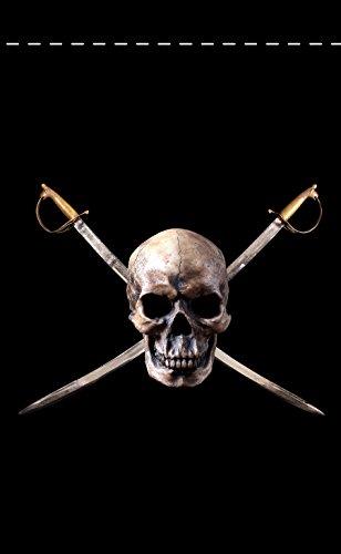 Nylon Flag (Pirat 45,7x 30,5cm Nylon Jolly Roger Garden Flag 18x 12Made in USA 45,7x 30,5cm)