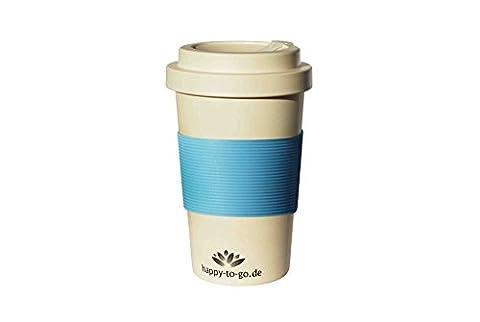 Coffee to go réutilisable à base de matières premières naturelles   pour le café sur le pouce   happy-to-go   avec bouchon à vis pratique   respectueux de l'environnement, la qualité des aliments (testé en laboratoire), réutilisable   lave-vaisselle adapté pour   Convient pour: banlieue, se cale parfaitement dans la voiture, les voyageurs et une idée cadeau   en quatre modèles à la mode