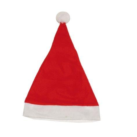 Nikolausmütze Filz rot weiß 29x42cm (Weiße Nikolausmütze)