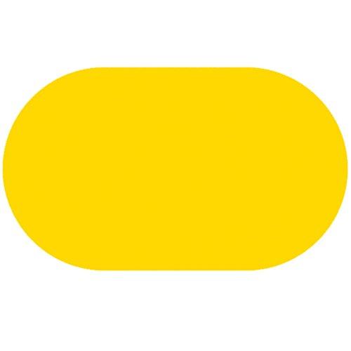 DecoHomeTextil Lacktischdecke Tischdecke Wachstuch Rund Oval Größe & Farbe wählbar Oval ca. 140 x 260 cm Gelb Wachstischdecke Wachstuchtischdecke Gartentischdecke Lebensmittelecht