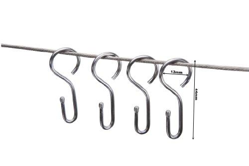 Haken für Seilspanngarnituren / Seilspannsysteme / Seilhaken Nirosta, Set 20 Stück