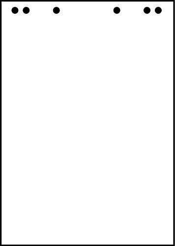 LANDRE 100050593 5 x Flipchart-Block blanko 20 Blatt je Block 80 g/m² - unverzichtbar für professionelle Präsentation