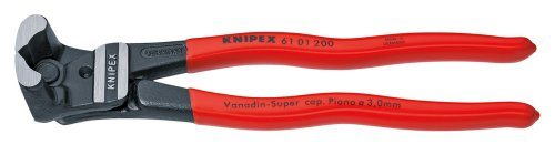 KNIPEX 61 01 200 Bolzen-Vornschneider hochübersetzt schwarz atramentiert mit Kunststoff überzogen 200 mm