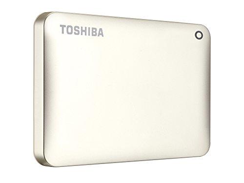 Toshiba Canvio Connect II 1 TB Mobile Festplatte (6,4 cm (2,5 Zoll) USB 3.0) mattgold