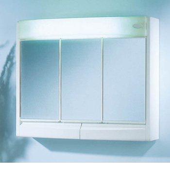 Jokey Saphir armario con espejo - Ancho 60 cm - blanco – con la iluminación – Espejo de baño