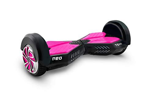 """Itekk Hoverboard 8\'\' Neo con Bluetooth, Assicurazione AXA \""""Tutela Famiglia\"""" inclusa, Rosa Fluo"""