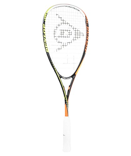 Dunlop Damen Squash Racket Tempo Pro HQ, Schwarz-Gelb-Orange, One Size