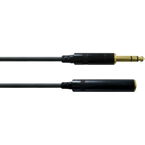 Cordial CFM 5 VK Sym. Klinken-Verbindungskabel (Klinke 6,3mm stereo gold/Kli.bu. 6,3mm stereo gold, Länge 5m) (Verlängerungskabel Lange)
