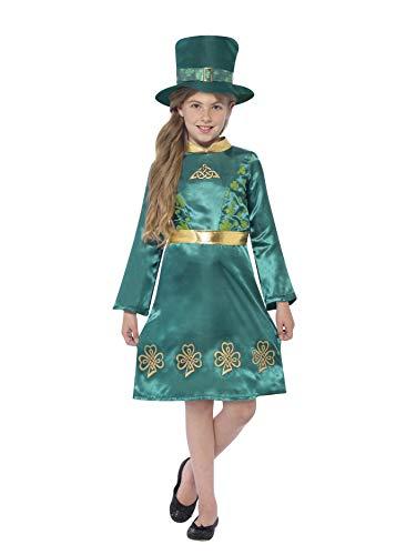 (Smiffys 44403S - Kinder Mädchen Kobold Kostüm, Alter: 4-6 Jahre, grün)