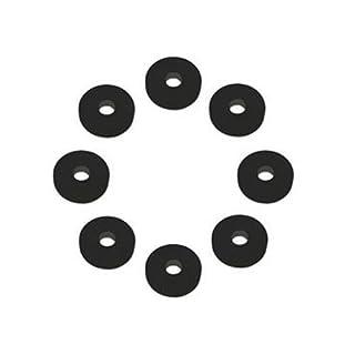 NEW! Acousti Anti Vibration Silicone Washers Black 8 Pack