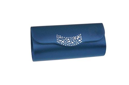 Pochette Da Donna Con Sigillo A Caldo Diamantes Mitternachtsblau