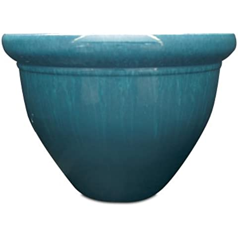 Listo Pizzazz resina ceramica vaso, 16cm, Blu Drip Glaze