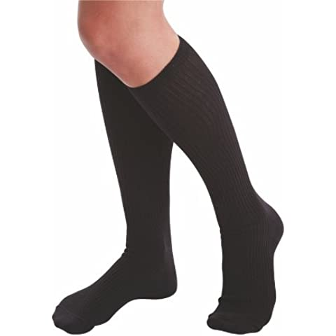 Terramed Organic Cotton Graduated Compression Support Unisex Socks (20-30 mmHg) Performance Sport Travel Running Recovery Support (X-Large, Black) by Terramed