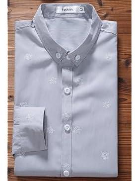 _ Moda Camisa De Los Hombres De