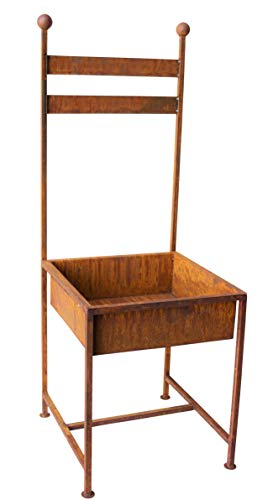 Unbekannt Stuhl zum Bepflanzen Rost Gartendeko Edelrost