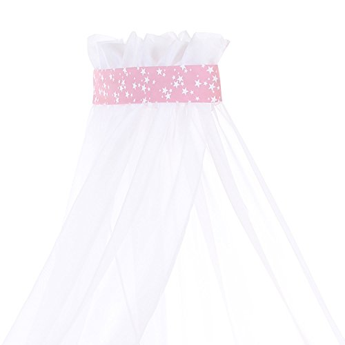 Babybay Canopy with Ribbon, Berry/White Stars