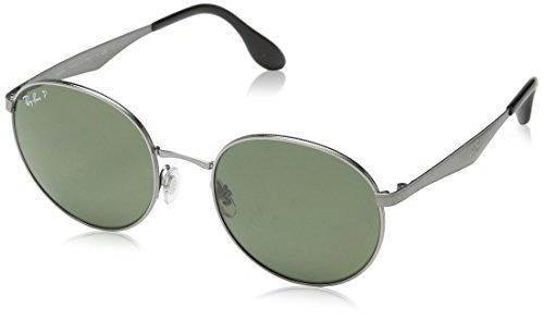 Ray Ban Herren Sonnenbrille RB3537, Grau (Gunmetal), One Size (Herstellergröße: 51)