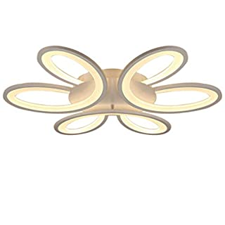 Led Ceiling Light, Modern Minimalist Petal Remote Control Dimmable Chandelier for Bedroom Living Room Children's Room Corridor Cafe Decoration