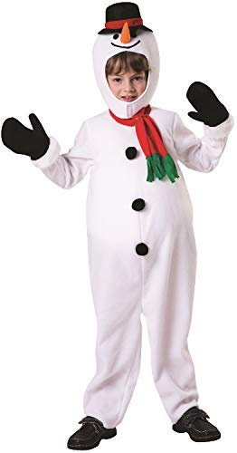 Boys Cute Snowman Padded Belly Frozen Christmas Xmas Noel Festive Fun Fancy Dress Costume Outfit (7-9 years)