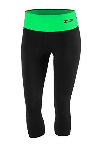 FITTECH PERFORMANCE Damen Thermoaktiv Legging Leggins Strumpfhose Tights Laufhose Caprihose 3/4 Leggings Fitness Pilates Outdoor Radsport...