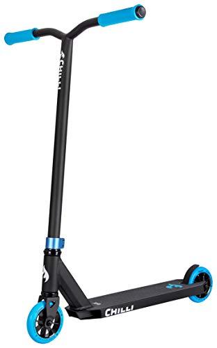 Chilli Pro Scooter Base Neon Blue   Erstklassiger Blauer Stunt-Scooter für Einsteiger   Robuster Roller, drehbarer Lenker ideal für Tricks geeignet   Leicht & schnell für maximales Fahrvergnügen