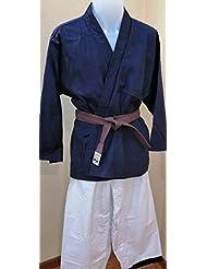 Grupo Contact Kimono Artes Marciales (Azul Oscuro y Blanco), Talla 1.70 cm.