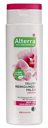 Deluxe Reinigungsmilch Orchidee - für reife & sehr reife Haut, mit Gingoextrakt & Bio-Amaranthöl, mit BIO-Arganöl, zertifizierte Naturkosmetik - 150 ml