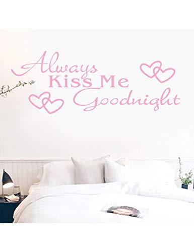 r Küss Mich Gute Nacht Brief Wand Papier Aufkleber Schlafzimmer Vinyl Kunst Wandaufkleber , C ()
