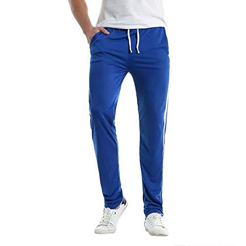 ITISME Jeanshosen Beiläufige dünne Sport-Hosen der Männer gestreifte Hosen-Baggy Harem-Lange Hosen
