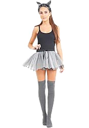 Islander Fashions Damen Halloween Wolf M�dchen Kost�m Womens Fancy Party Wear Outfit Komplettset Small / ()