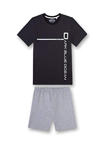 Sanetta Jungen kurz Zweiteiliger Schlafanzug, Grün (Phantom 5169), Herstellergröße: 164