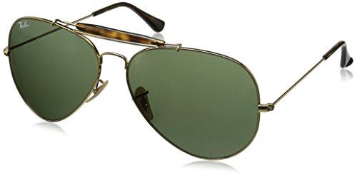 Ray-Ban Herren Sonnenbrille Rb 3029, Gold/DarkGreen, One Size (62) (Ray Shooter Aviator Ban)